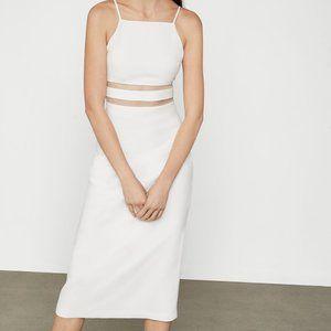 BCBG White Crepe Elopement/Wedding/Shower Dress